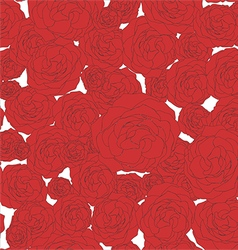 Red roses - Floral pattern vector image