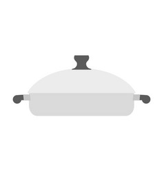 roaster pan isolated kitchen utensils on white vector image