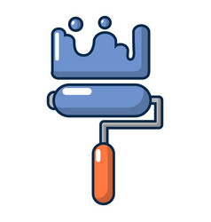 roll brush icon cartoon style vector image