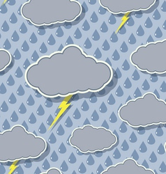 seamless rain cloud pattern vector image