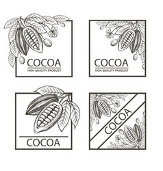 set of frames with cocoa vector image