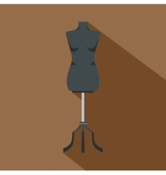Sewing mannequin icon flat style vector image