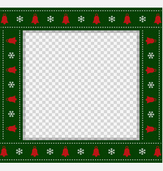 Square template christmas photo frame scrapbook vector