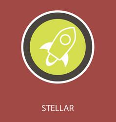 Stellar xlm cryptocurrency coin virtual money vector