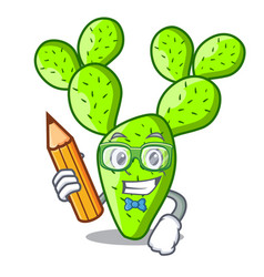 student cartoon opuntia cactus in the desert vector image