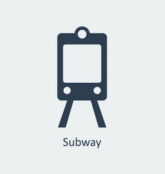 subway icon silhouette icon vector image