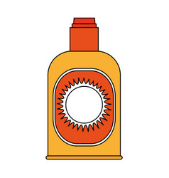 Sunblock bottle icon vector