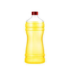sunflower oil natural product blank bottle vector image