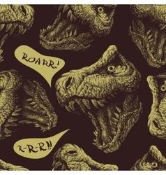 Trex Dinosaur seamless background Eps 8 vector image