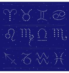 Twelve Zodiac signs vector image