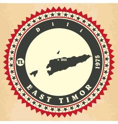 Vintage label-sticker cards east timor vector