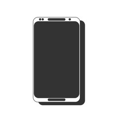 white smart phone with blank screen isolated on vector image