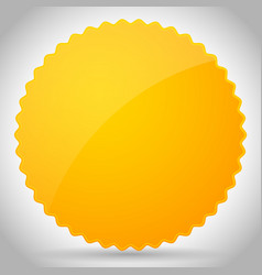 Yellow-orange glossy badge shape with blank space vector
