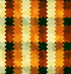 Zigzag lines orange seamless pattern vector