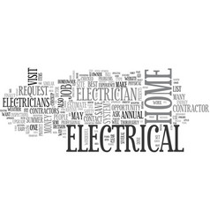 A summer electrical check up for your home text vector