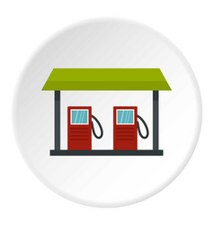 gas station icon circle vector image vector image