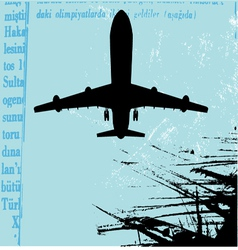 grunge airplane vector image vector image