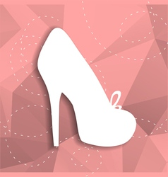 paper shoe vector image vector image