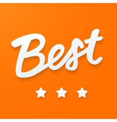 Banner with text - best vector image