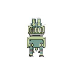 robotic dog vector image vector image