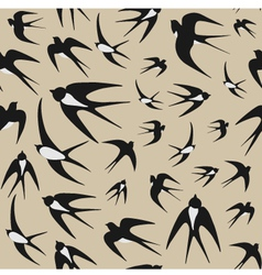 Seamless background with swallows vector image vector image