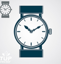 simple wristwatch detailed quartz watch wit vector image vector image