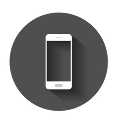 smartphone icon phone with long shadow vector image vector image