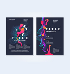 template for a magazine about music modern poster vector image