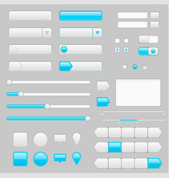 white web interface buttons slider and icons with vector image vector image