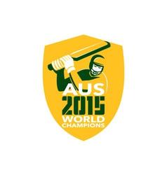 Australia Cricket 2015 World Champions Shield vector image vector image