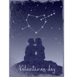 Couple in love under the stars vector image vector image