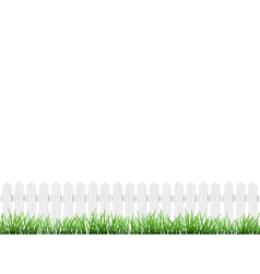 Fence and grass isolated vector