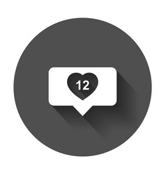 like comment follower icon flat with heart with vector image