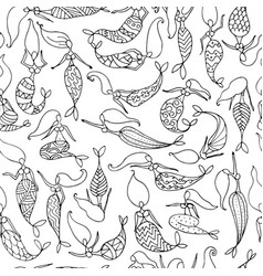 mermaids sketch seamless pattern for your design vector image vector image