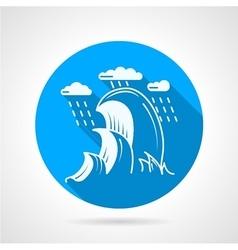 Sea wave round icon vector image