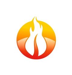 abstract fire hot logo vector image