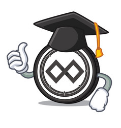 graduation tenx coin character cartoon vector image