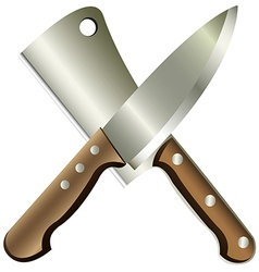 kitchen knives vector image