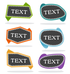 pop-up bubble text vector image vector image