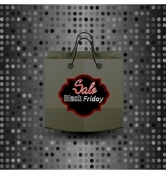 Shopping Paper Bag with Black Friday Sticker vector image