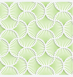 3D green wavy striped pin will grid vector image