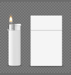3d realistic closedclear blank cigarette vector