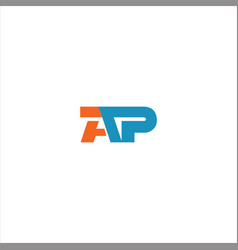 A p letter logo design on black color background vector