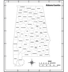 alabama state outline administrative map vector image