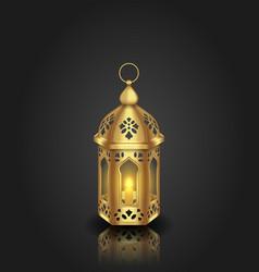 Arabic realistic lantern islamic design vector