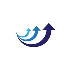 arrows icon logo template design vector image