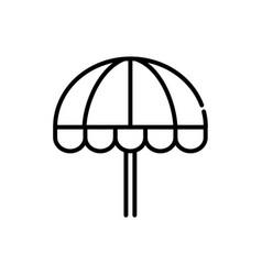 beach umbrella tourism travel thick line vector image
