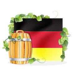 beer barrel and german flag vector image