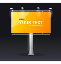 Billboard screen template concept vector