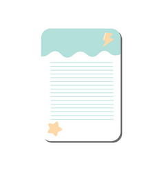 card with place for notes lined template can be vector image